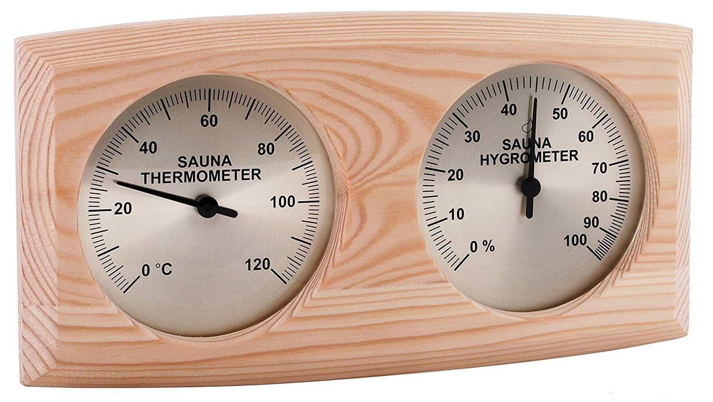 Hygrometer und Thermometer für den sicheren Aufenthalt in der Gartensauna