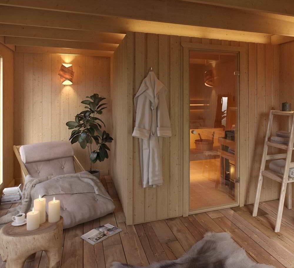 gartensauna mit vorraum kaufen das solltest du wissen. Black Bedroom Furniture Sets. Home Design Ideas