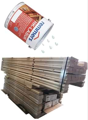 Holzschutz mit Lasur für die Gartensauna
