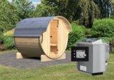 FASS-SAUNA 1 2,16 x 2,20 m 42 mm mit 9 kW Ofen