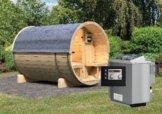 FASS-SAUNA 2 2,16 x 2,80 m 42 mm mit 9 kW Ofen
