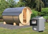 FASS-SAUNA 3 2,16 x 3,30 m 42 mm mit 9 kW Ofen