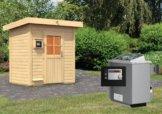 Gartensauna JORGEN 1,96 x 1,46 m 38 mm mit 9 kW Ofen 9.0 kW Ofen ext. Steuerung