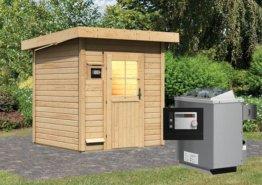 Gartensauna TORGE 1,96 x 1,96 m 38 mm mit 9 kW Ofen 9.0 kW Ofen ext. Steuerung