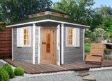 Weka Sauna »149 OS«, 298/298/315 cm, 68 mm, 7,5 KW-Ofen