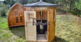 Saunafass klein Vertikal mit Holzofen TimberIN