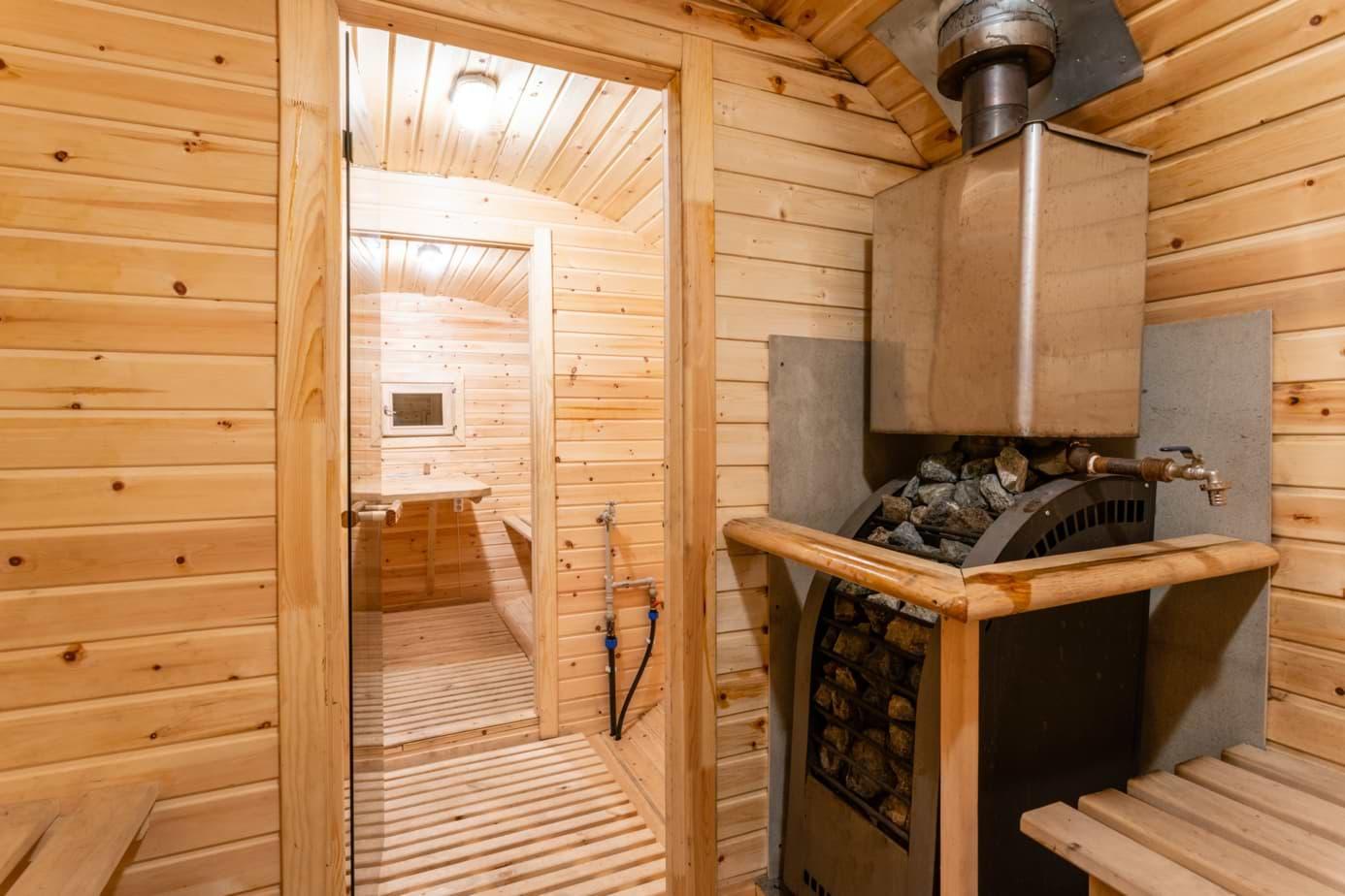 Rollo für Sauna