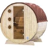 Fasssauna »Mini«, Fichtenholz, beige, 3 Personen, 3,3 m2